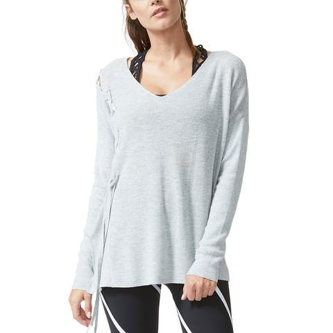 Vimmia Shavasana Long Sleeve Lace Up Shoulder Pull - 1223Chromium