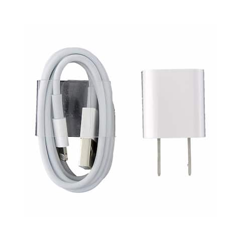 Apple Lightning USB Cable and 5W Wall Adapter 3.3 feet