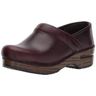 Dansko Womens professional cabrio Leather Closed Toe Clogs