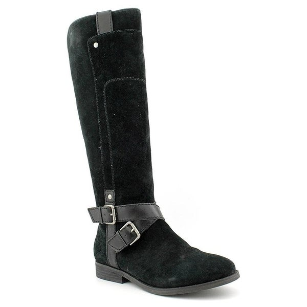 M.F. Artful Riding Boots - Black Suede - 5.5