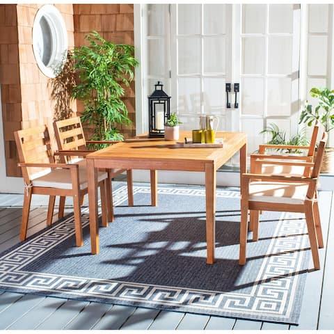 SAFAVIEH Outdoor Living Wilming 5-Piece Natural/ Beige Dining Set