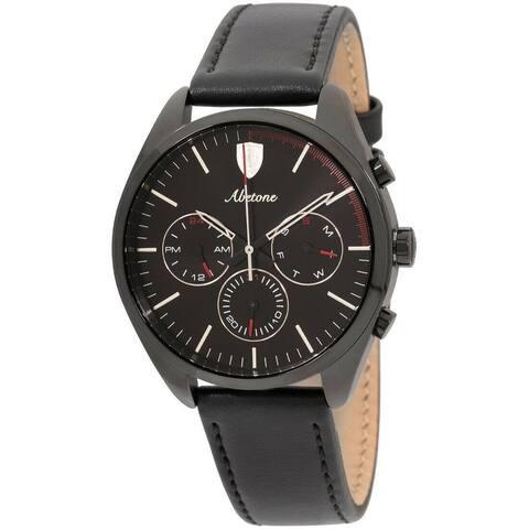 Ferrari Men's 830503 'Abetone' Black Leather Watch