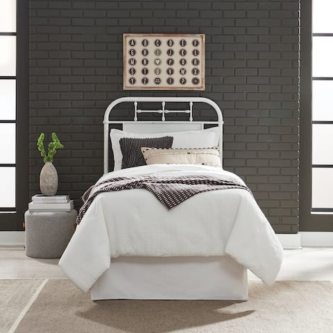 Carbon Loft Cauthen Antique White Full Metal Headboard
