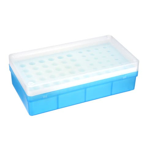2Pcs 3 Kind of Tube Rack Polypropylene 54-Well Blue for 0.2ml, 0.5ml, 1.5ml
