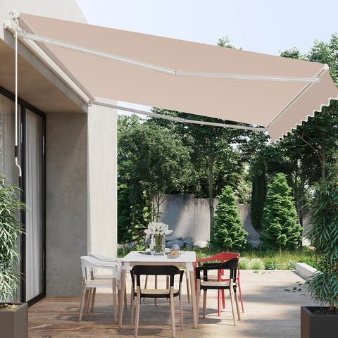 Veikous 10'x8' Retractable Patio Awning Sun Shade Cover