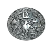 CTM® Cowboy Up Belt Buckle