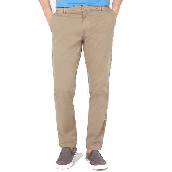DKNY Mens Pants Beige Size 40x30 Twill Straight Leg Chinos Stretch. Opens flyout.