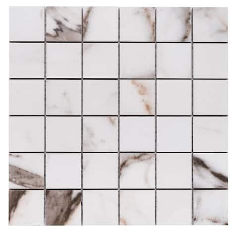 "The Tile Life Seattle 2"" x 2"" Porcelain Mosaic Floor Use Tile"
