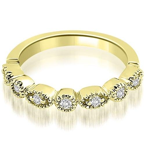 0.25 cttw. 14K Yellow Gold Round Diamond Bezel Wedding Band