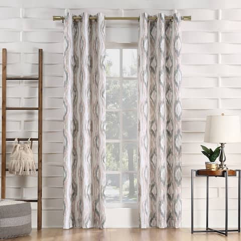 No. 918 Hoshi Ikat Ogee Semi-Sheer Grommet Curtain Panel