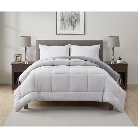 Perry Ellis Portfolio Grant Reversible Down Alternative Comforter