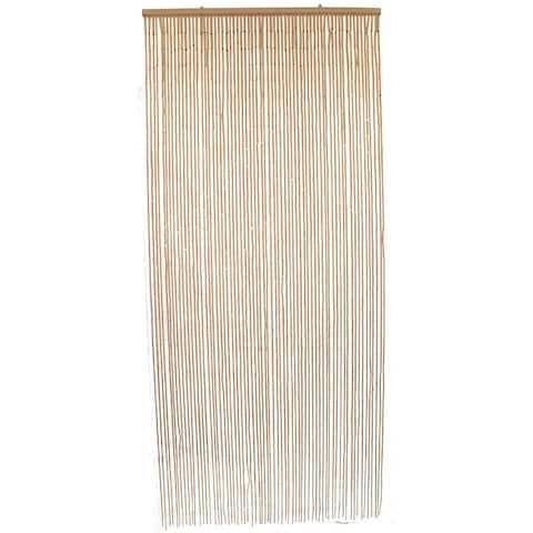 "Bamboo Sticks Beaded Curtain Doorway 65 Strings 78.8""H x 35.5""W - 78.8h x 35.5 inch /200x90 cm"