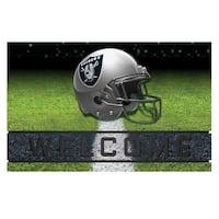NFL Oakland Raiders Heavy Duty Crumb Rubber Door Mat