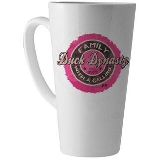 Duck Dynasty 16 Oz Pink Logo Latte Mug