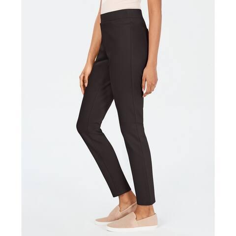 Style & Co Women's Petite Ponte Leggings Grey Size Medium