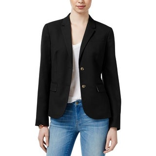 Tommy Hilfiger Womens Two-Button Blazer Long Sleeves Sport Coat