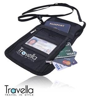 RFID Passport Holder Neck Wallet- Anti-theft Document and Passport Travel Wallet - Blocking Case with Neck Strap