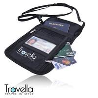 RFID Passport Holder Neck Wallet- Anti-theft Document and Passport Travel Wallet - Blocking Case with Neck Strap