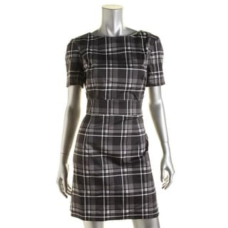 French Connection Womens Plaid A Line Wear to Work Dress