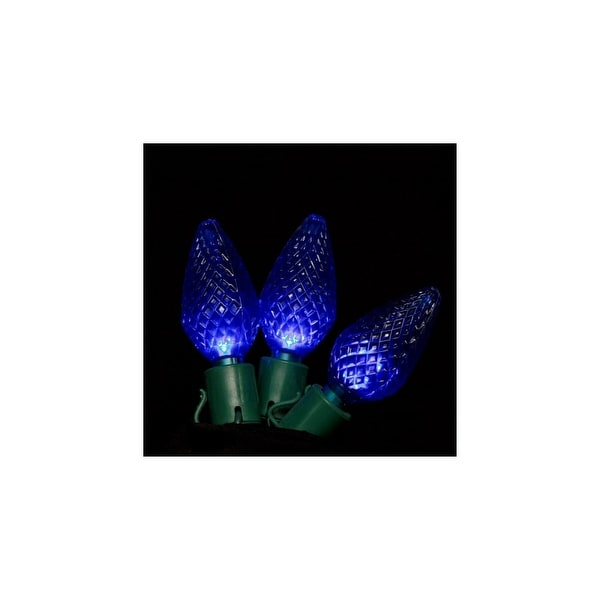 Christmas at Winterland C-25C9BL-12G 25 Foot Commercial Grade A String of Blue C9 E17 Base LED Lights with 12 Inch Spacing and