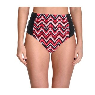 Allure by JMG Womens Plus Chevron Ruched Swim Bottom Separates