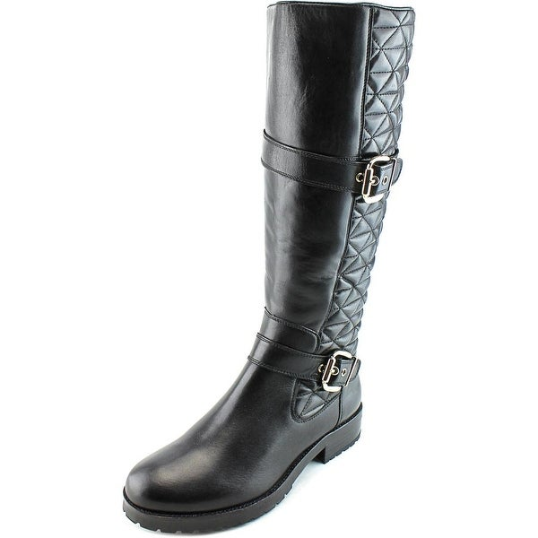 Gerry Weber Jale 02 Women Round Toe Leather Black Knee High Boot