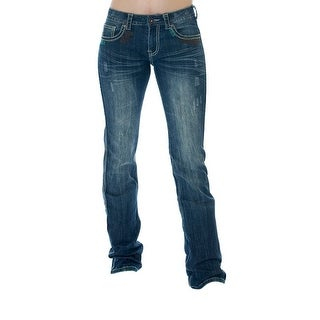 Cowgirl Tuff Western Denim Jeans Womens Southwest Medium Wash