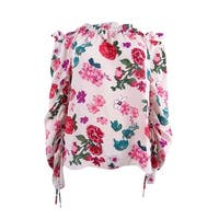 Vince Camuto Women's Off The Shoulder Floral Heirloom Top - Pink