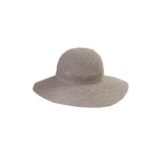 Collection Xiix Grey Textured Expansion Floppy Hat OS