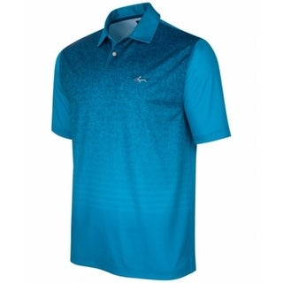 Tasso Elba NEW Blue Mens Size Large L Polo Logo Athletic Ombre Shirt