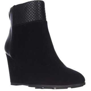 Tahari Sutton Wedge Ankle Boots - Black