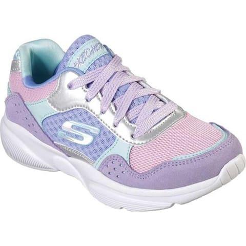 Skechers Girls' Meridian Charted Sneaker Lavender/Multi