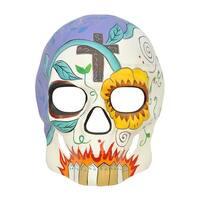 Pure Seasons Day of the Dead Masquerade Mask (Multi) - Multi