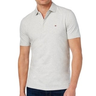 Tommy Hilfiger NEW Gray Light Mens Size Large L Custom Fit Polo Shirt
