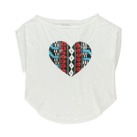 Dreamr Womens Heart Graphic T-Shirt