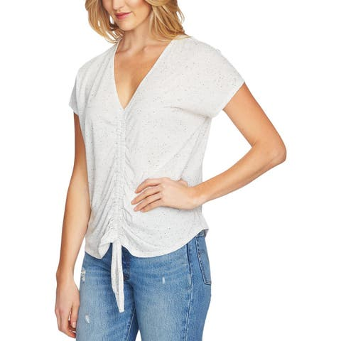 1.State Womens Casual Top Ruched Printed