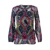 INC International Concepts Women's Peplum Blouse & Tank Set (S, Couture Paisley) - couture paisley - s