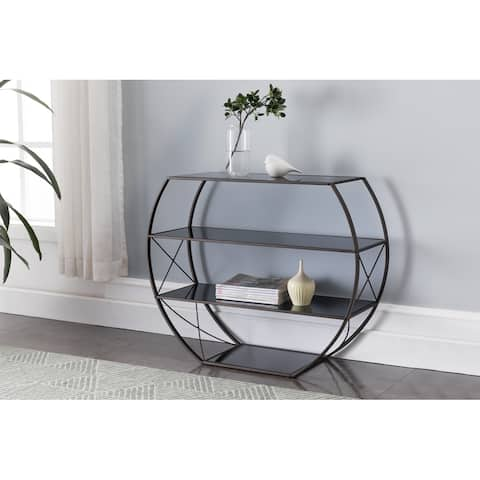 Pewter Metal Console Table