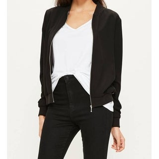 Misguided NEW Black Gold Womens Size 4 Embellished Bomber Jacket
