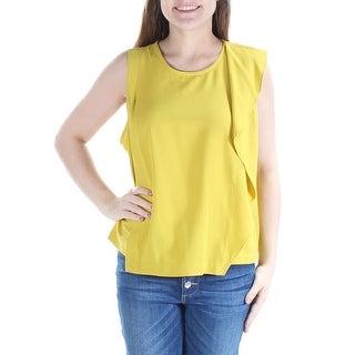 RACHEL ROY Womens New 1244 Green Jewel Neck Sleeveless Casual Top 8 B+B