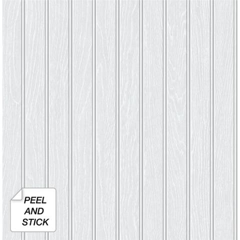 NextWall Beadboard Faux Peel and Stick Removable Wallpaper - 20.5 in. W x 18 ft. L