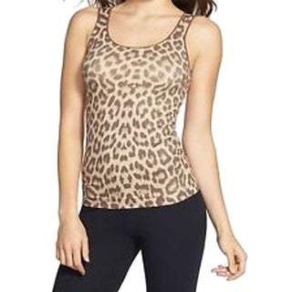 Shimera NEW Brown Women's Size Medium M Leopard Print Seamless Tank Top