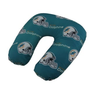 NFL Miami Dolphins Beaded Travel Neck Pillow - Green