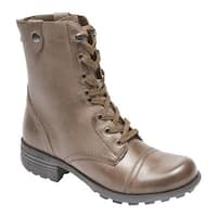 Rockport Women's Cobb Hill Bethany Boot Grey Smooth Leather