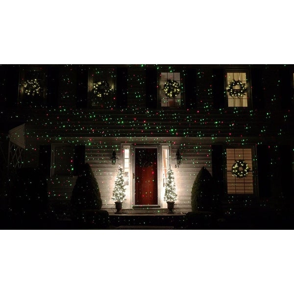 Outdoor Dynamic Red & Green Christmas Laser Light Projector with Remote Control