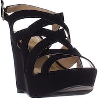 TS35 Maddor Casual Wedge Sandals, Black