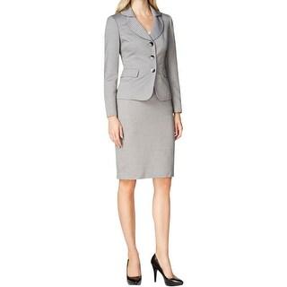 Le Suit Womens Skirt Suit Jacquard 2PC
