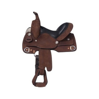 """Tough-1 Western Saddle Youth Trainer Horn Leather 11"""""""