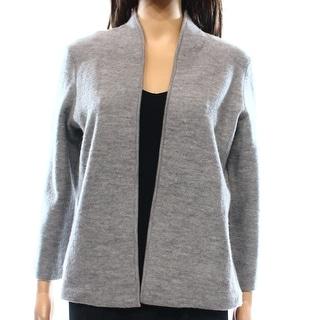 Anne Klein NEW Gray Women's Size XS Cardigan Wool Open Sweater