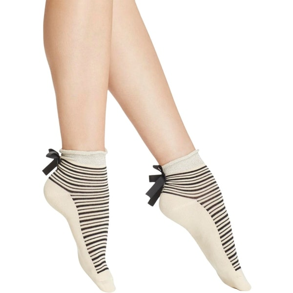 Free People Womens Ankle Socks Knit Striped - o/s
